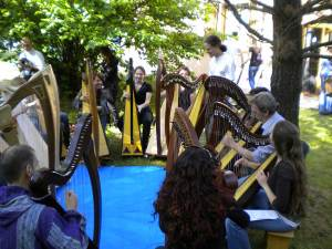 il momento finale dello stage di arpa celtica con Tristan Le Govic