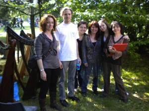 Bruna, Barbara, Patrizia Borromeo, Jennifer e Patrizia con Tristan al termine dello stage
