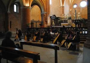Morimondo : sperimentiamo la splendida acustica dell'abbazia.