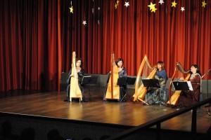 Bruna, Barbara, Patrizia Borromeo e Patrizia al piccolo teatro Santa Maria di Inverigo
