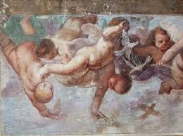 Un particolare degli affreschi seicenteschi