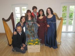 Giovanni, Barbara, Patrizia Borromeo, Raffaella, Patrizia e Bruna