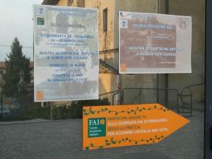 25 Marzo 2012, Villa Parravicini : le locandine dell'evento