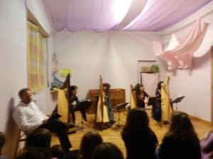 un momento del concerto presso il centro Politeama di Varedo (MB)