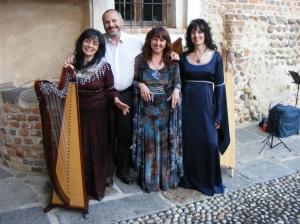 Patrizia, Giovanni, Patrizia Borromeo e Bruna - Castello del Guado (BI)