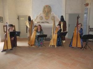 Patrizia, Patrizia Borromeo, Bruna e Barbara al Castello di Rossena (RE)
