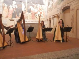 Patrizia Borromeo e Il Cerchio delle Fate a Lentate sul Seveso (MB) - ensemble di arpe celtiche