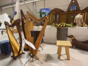 Le nostre arpe presso la fiera degli sposi ad Assago : allestimento di Cinzia Franceschelli
