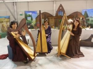 ensemble di arpe celtiche: Patrizia Borromeo e  Il Cerchio delle Fate