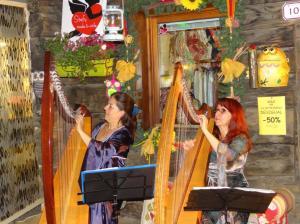 Patrizia Borromeo e Barbara 19 luglio 2014 arpa celtica e voci