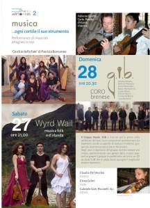 Dal programma di Art Omnis : ecco la pagina dedicata alla musica nei cortili