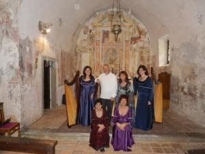 Patrizia Borromeo e Il Cerchio delle Fate a Roncola (BG) Chiesa di San Defendente (XIV secolo)