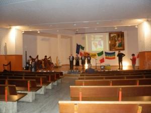 Auditorium parrocchiale di Muggiò (MB) un momento delle prove con i lettori