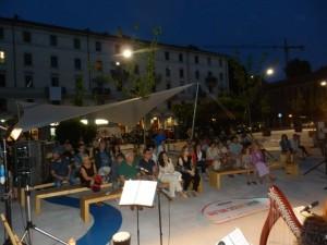 Ensemble di arpe celtiche presso il Giardino delle Culture - Milano