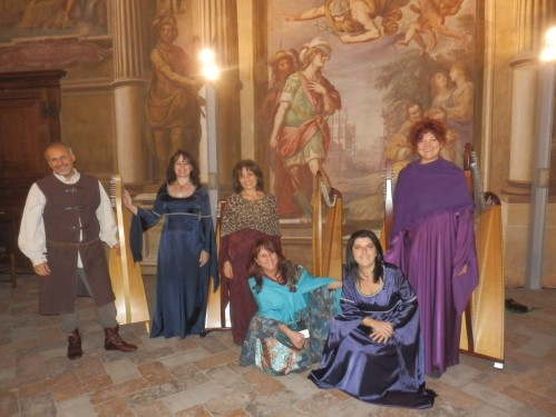Ensemble di arpe celtiche a Palazzo Borromeo