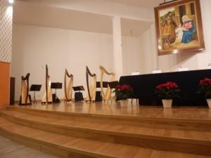 Ensemble di arpe celtiche alla cerimonia di Santa Lucia - Muggiò (MB)