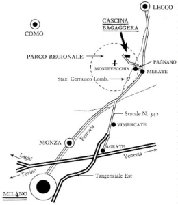 cartina per Cascina Bagaggera