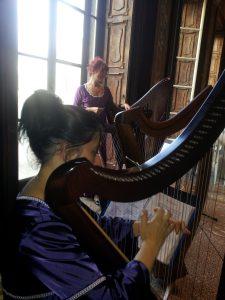 Ensemble di arpe celtiche in Villa Tittoni, Desio
