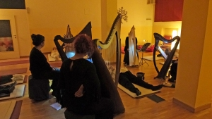 Ensemble di arpe celtiche e voci a Monza : centro Yoga Sadhana
